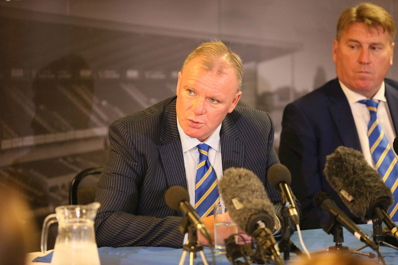 Manager Steve Evans, pictured on the day he was unveiled as the club's manager