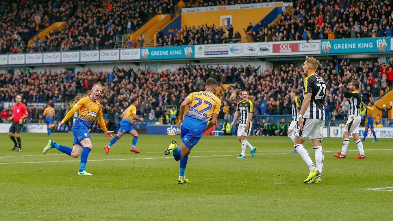 Mansfield Town vs Notts County on 08 Dec 18 - Match Centre