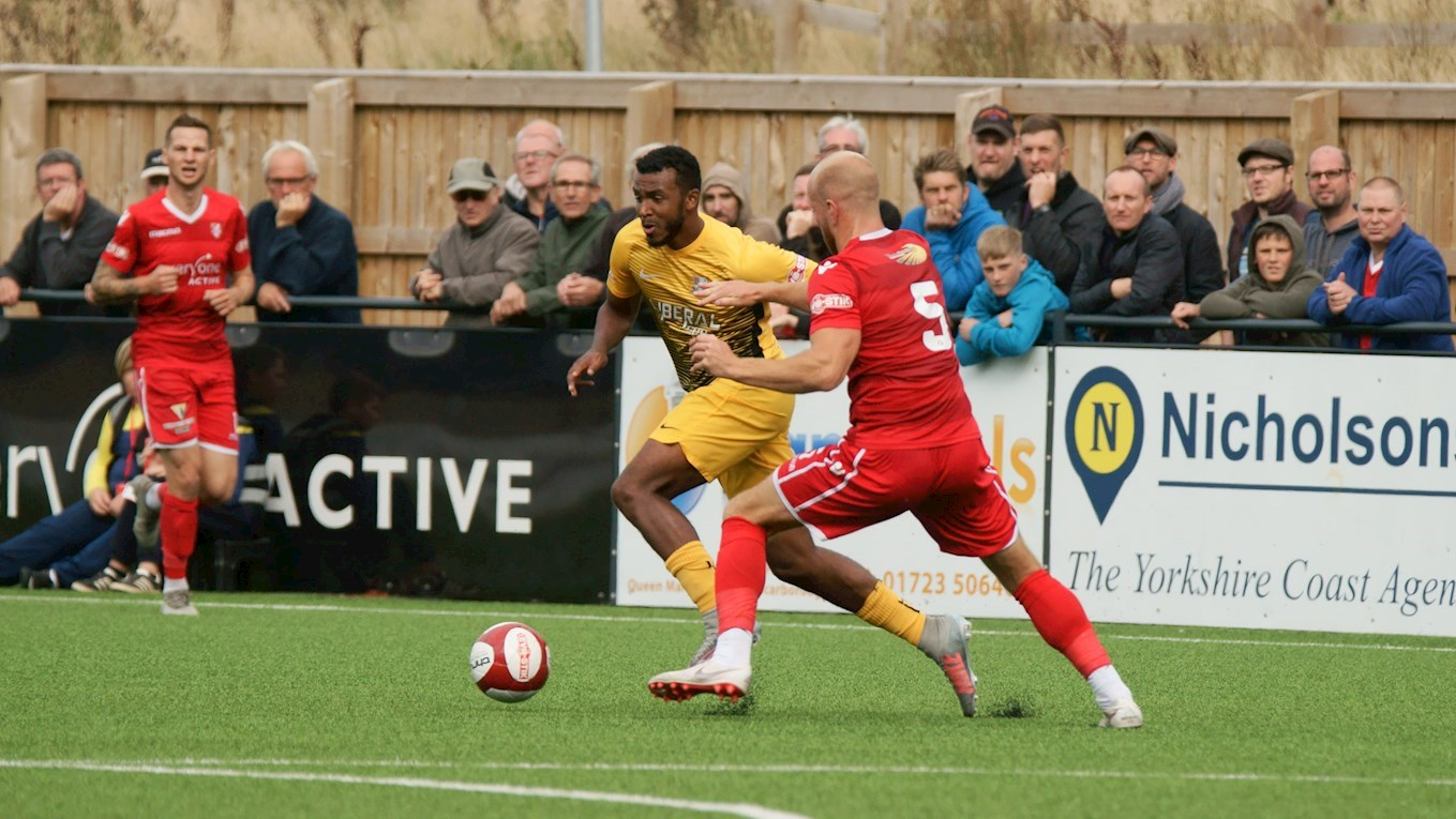 Striker Zayn Hakeem pictured earlier this season for Basford United. Photo: Mick Gretton.