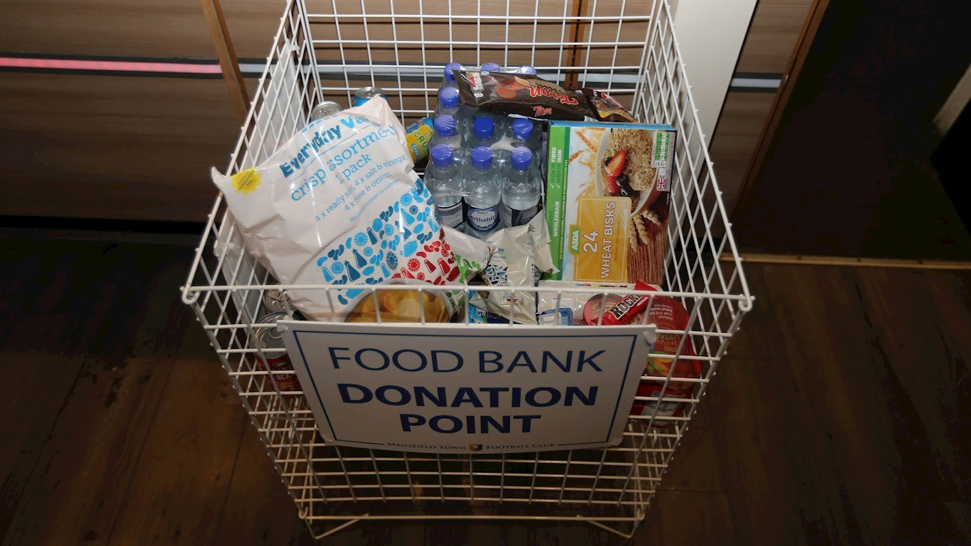 Stags set up food bank donation point in Sports Bar - News