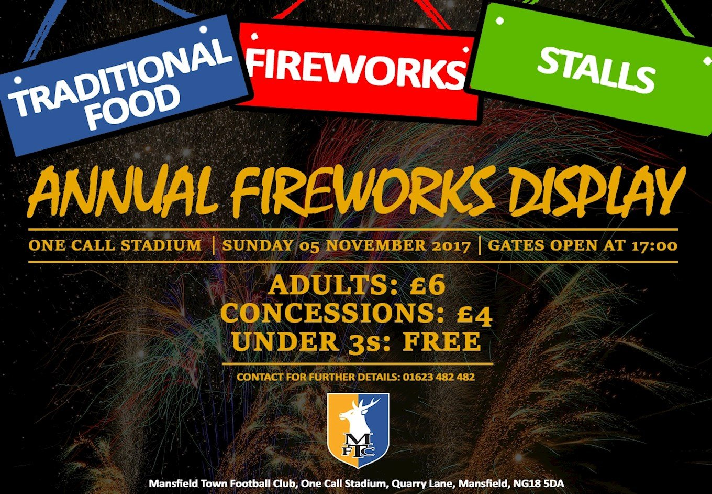 Mansfield's premier fireworks display tonight! - News ...