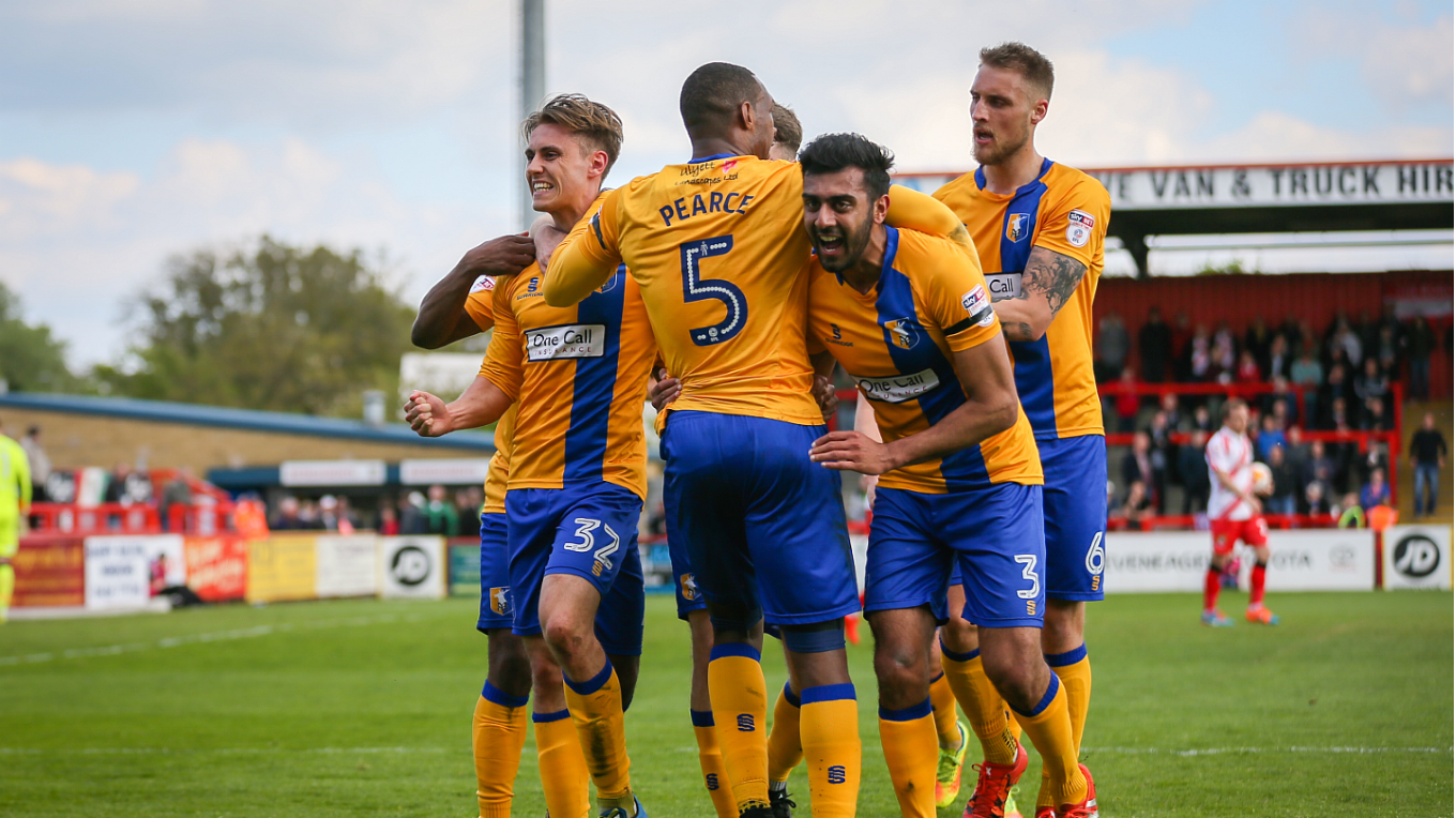 Image result for mansfield town celebration 2017/18