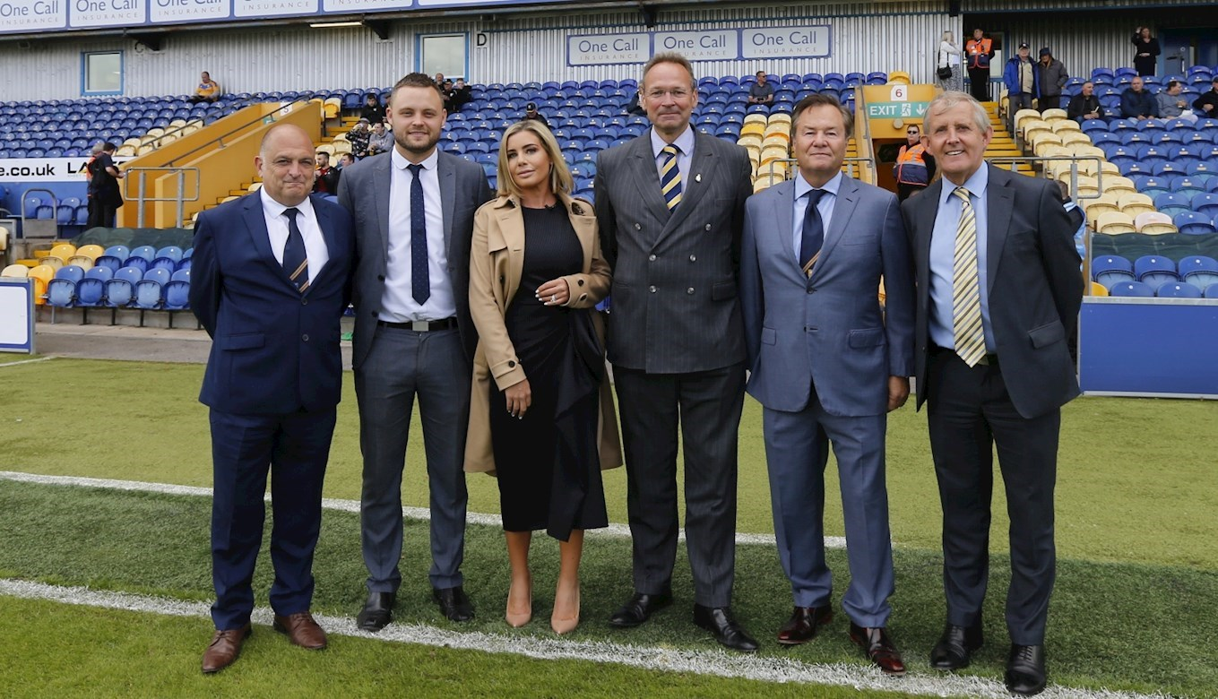 L-R: Mark Hawkins (Stags' academy director), Ben Bradley (Member of Parliament for Mansfield), Carolyn Radford (Stags' CEO), Andrew Cropley (West Nottinghamshire College principal and CEO), John Radford (Stags' chairman), Chris Ball (Stags' academy head of education)