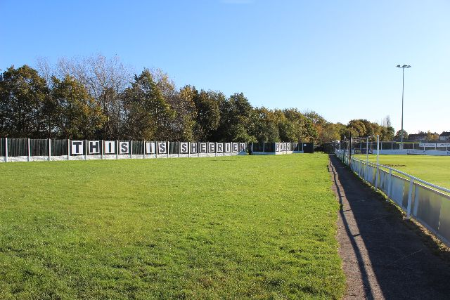The end of Sheerien Park where the temporary stand will be erected